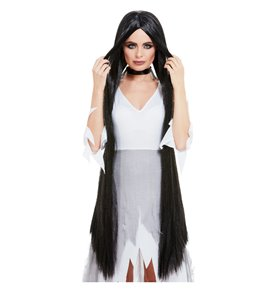 Witch Wig Extra Long, Black