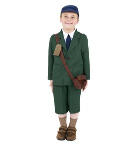 World War II Evacuee Boy Costume, Green