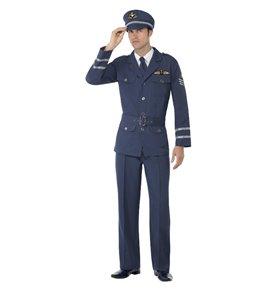 WW2 Air Force Captain Costume, Blue