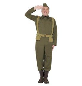 WW2 Home Guard Private Costume, Green