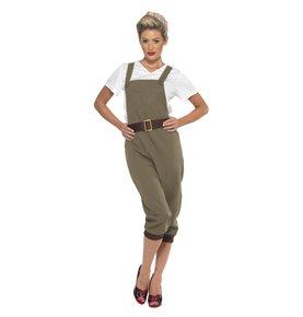 WW2 Land Girl Costume, Khaki