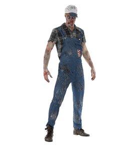 Zombie Hillbilly Costume, Male, Blue