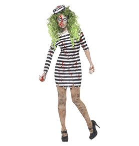 Zombie Jail Bird Costume, Black