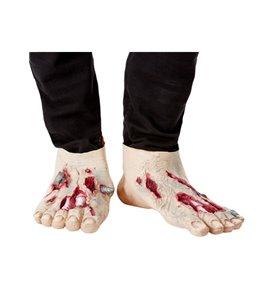 Zombie Latex Shoe Covers, Beige