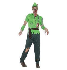 Zombie Lost Boy Costume, Green