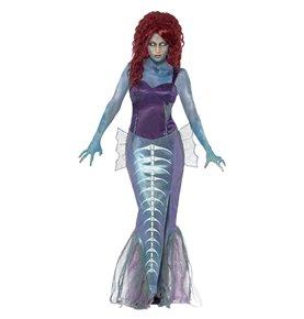 Zombie Mermaid Costume, Purple