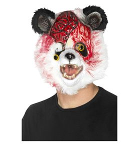 Zombie Panda Mask, Black & White