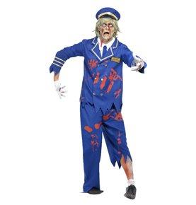 Zombie Pilot/Captain Costume, Blue