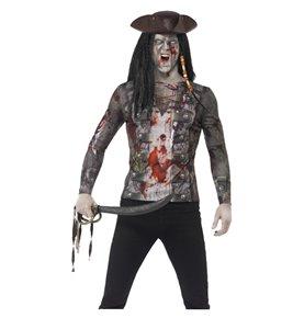 Zombie Pirate T-Shirt, Green
