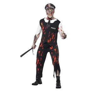 Zombie Policeman Costume, Black