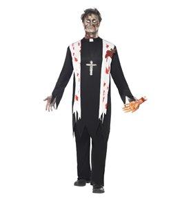 Zombie Priest Costume, Black