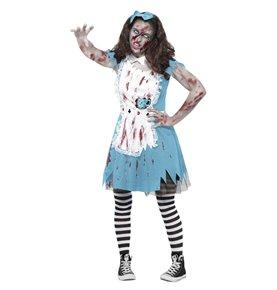 Zombie Tea Party Costume, Blue