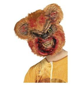 Zombie Teddy Bear Mask, Brown