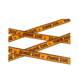 Zombie Zone Caution Tape, Orange & Black