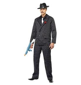 Zoot Suit Costume, Male, Black